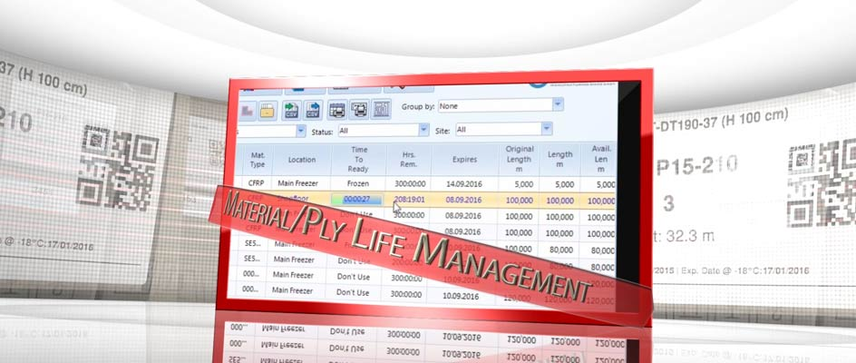 3 crosstrack composite prepreg material life management software